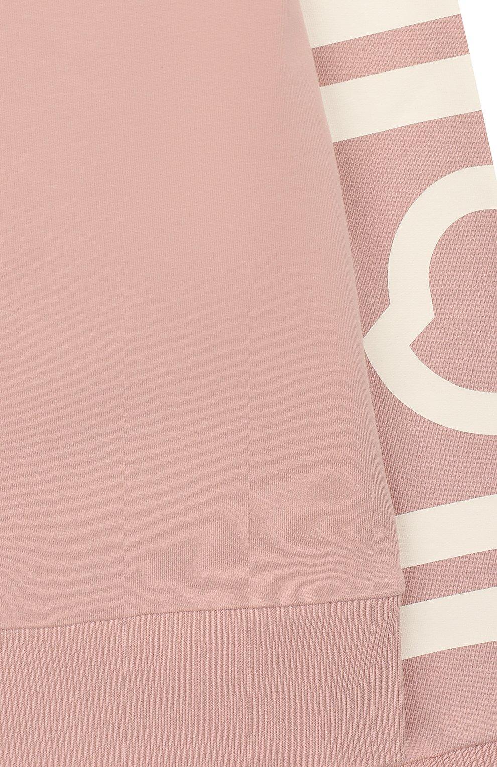 Детский хлопковый свитшот MONCLER ENFANT розового цвета, арт. E2-954-80739-50-V8085/4-6A | Фото 3