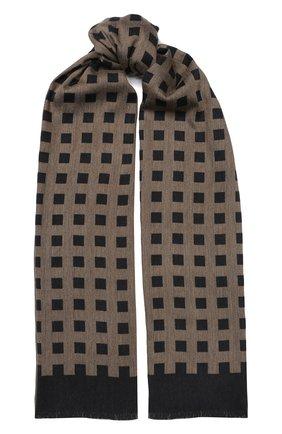 Мужской шарф из смеси шерсти и вискозы GIORGIO ARMANI коричневого цвета, арт. 745206/9A109 | Фото 1
