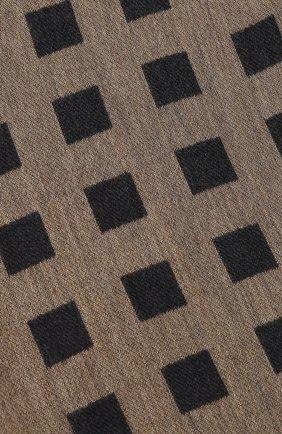 Мужской шарф из смеси шерсти и вискозы GIORGIO ARMANI коричневого цвета, арт. 745206/9A109 | Фото 2