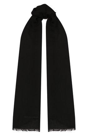 Мужской кашемировый шарф GIORGIO ARMANI черного цвета, арт. 745212/9A118 | Фото 1