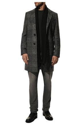 Мужской кашемировый шарф GIORGIO ARMANI черного цвета, арт. 745212/9A118 | Фото 2