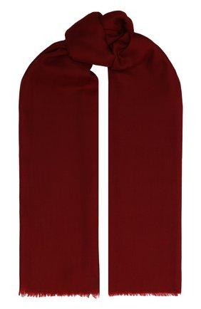 Мужской кашемировый шарф GIORGIO ARMANI красного цвета, арт. 745212/9A118 | Фото 1