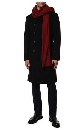 Мужской кашемировый шарф GIORGIO ARMANI красного цвета, арт. 745212/9A118 | Фото 2