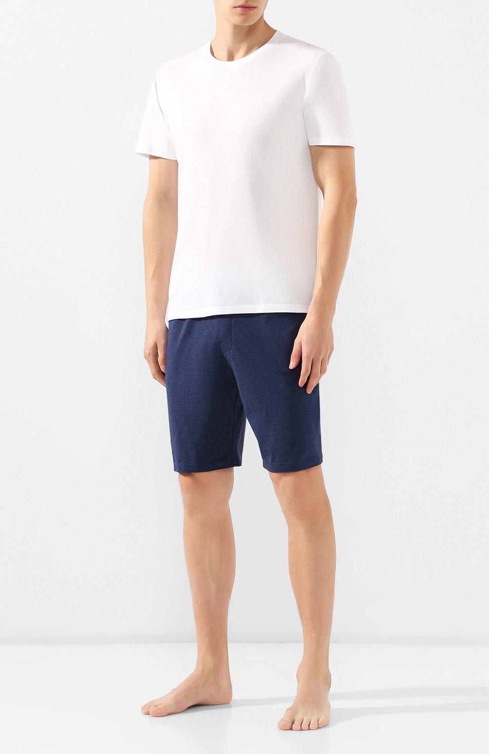 Мужские хлопковые шорты CALVIN KLEIN синего цвета, арт. NM1593E | Фото 2