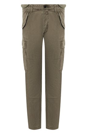 Мужской хлопковые брюки-карго POLO RALPH LAUREN зеленого цвета, арт. 710671176 | Фото 1