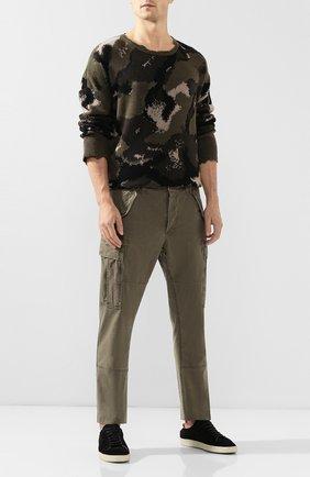 Мужской хлопковые брюки-карго POLO RALPH LAUREN зеленого цвета, арт. 710671176 | Фото 2