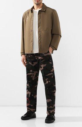 Мужские кожаные кроссовки AMI черного цвета, арт. A19S407.980 | Фото 2