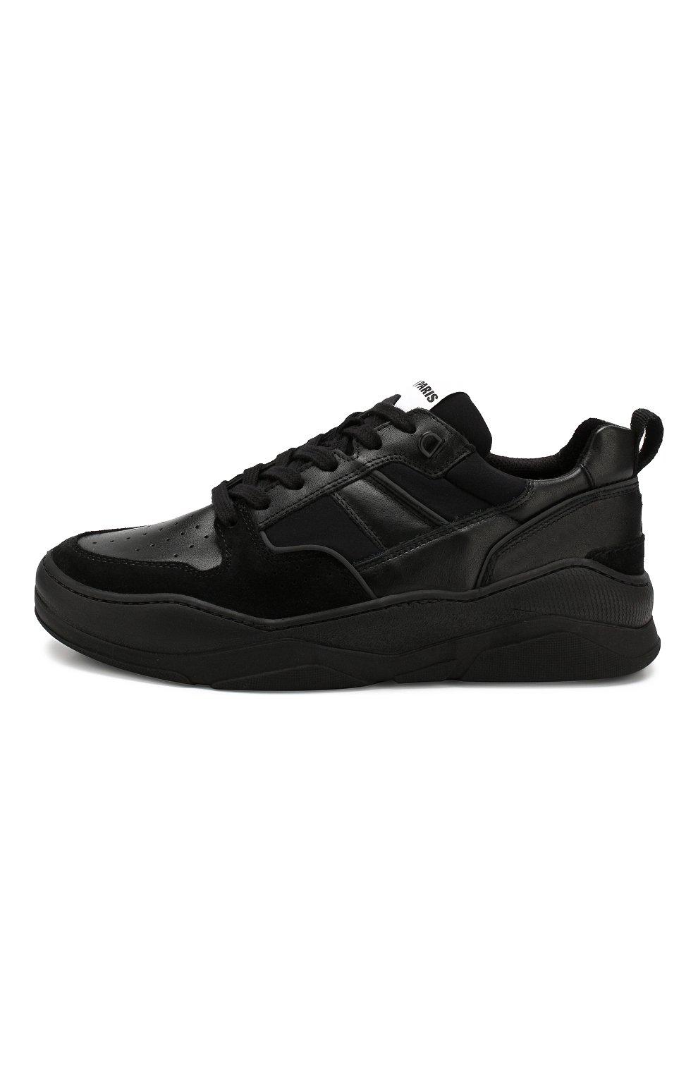 Мужские кожаные кроссовки AMI черного цвета, арт. A19S407.980 | Фото 3