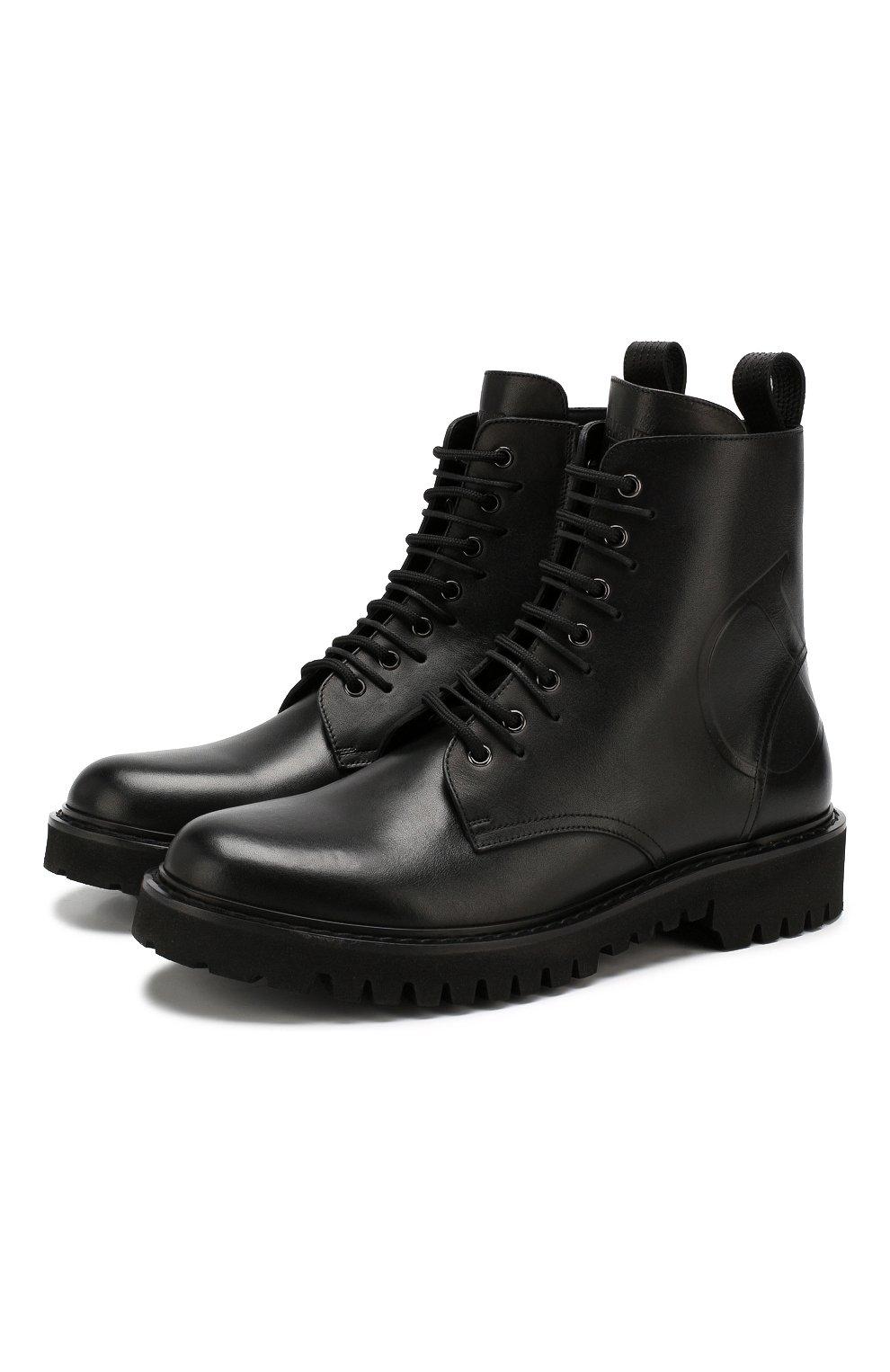 Мужские кожаные ботинки valentino garavani VALENTINO черного цвета, арт. SY2S0C03/JZI | Фото 1