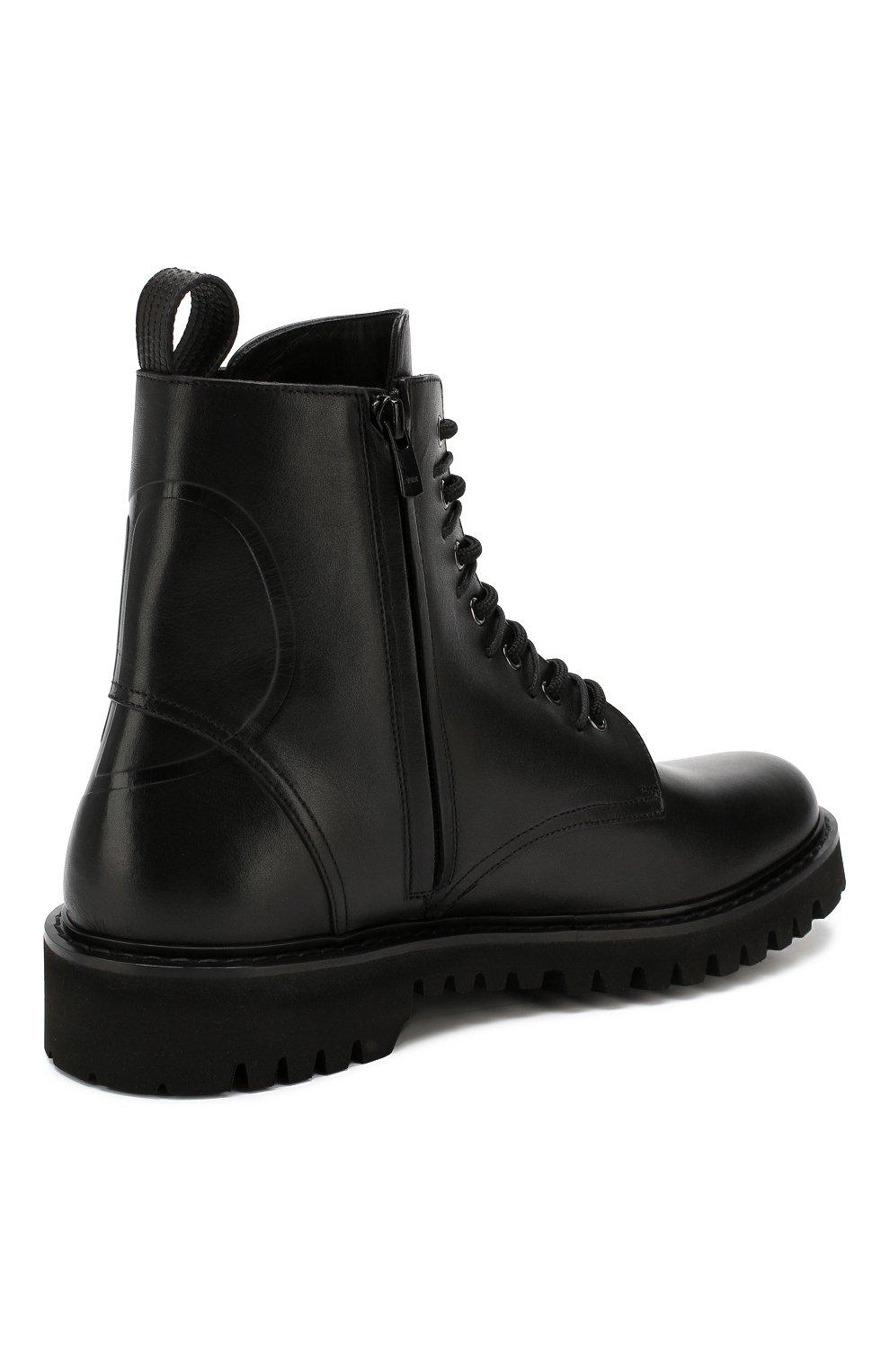 Мужские кожаные ботинки valentino garavani VALENTINO черного цвета, арт. SY2S0C03/JZI | Фото 4