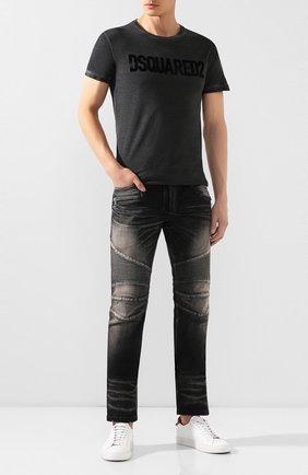 Мужская хлопковая футболка DSQUARED2 темно-серого цвета, арт. S74GD0587/S22146 | Фото 2