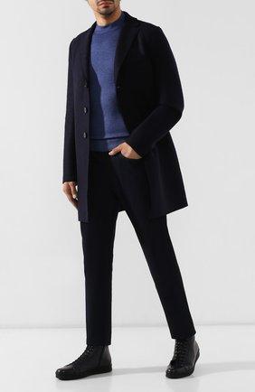 Мужские кожаные кеды ALDO BRUE темно-синего цвета, арт. AB5310H-VP | Фото 2