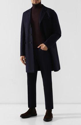 Мужские замшевые челси ALDO BRUE темно-коричневого цвета, арт. AB6096H-SA   Фото 2