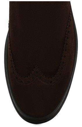Мужские замшевые челси ALDO BRUE темно-коричневого цвета, арт. AB6096H-SA   Фото 5