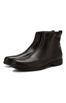 Мужские кожаные сапоги ALDO BRUE темно-коричневого цвета, арт. AB6205H-BR   Фото 1