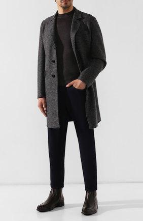Мужские кожаные сапоги ALDO BRUE темно-коричневого цвета, арт. AB6205H-BR   Фото 2