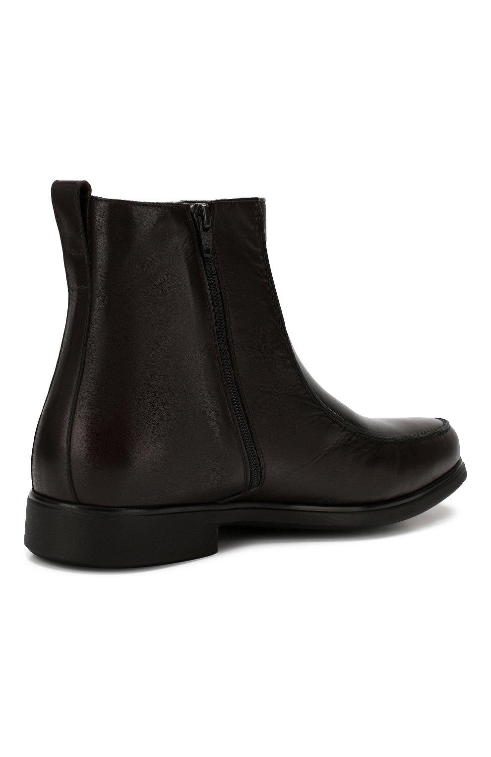 Мужские кожаные сапоги ALDO BRUE темно-коричневого цвета, арт. AB6205H-BR   Фото 4