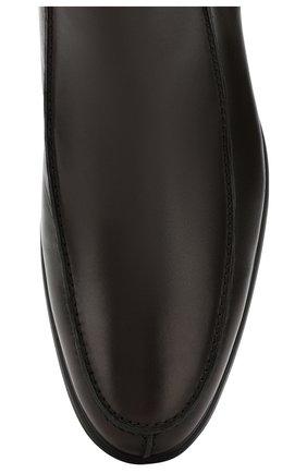 Мужские кожаные сапоги ALDO BRUE темно-коричневого цвета, арт. AB6205H-BR   Фото 5