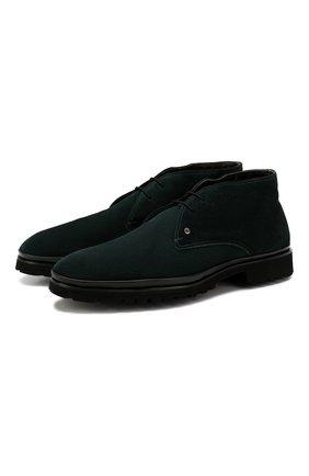 Мужские замшевые ботинки ALDO BRUE темно-зеленого цвета, арт. AB8514H-SA | Фото 1