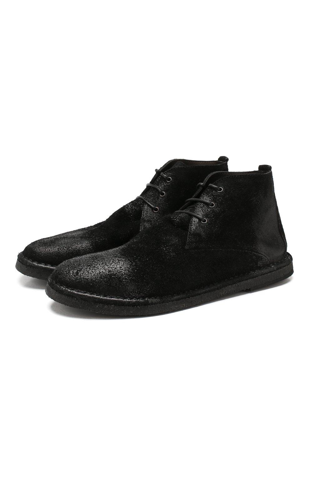 Мужские замшевые ботинки MARSELL черного цвета, арт. MM2795/SPALLA R0VESCI0 | Фото 1