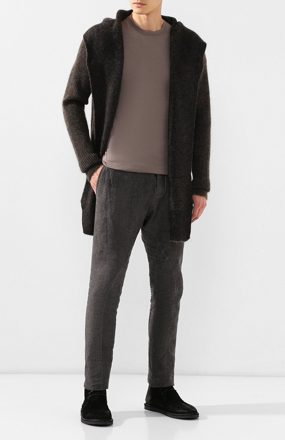 Мужские замшевые ботинки MARSELL черного цвета, арт. MM2795/SPALLA R0VESCI0 | Фото 2