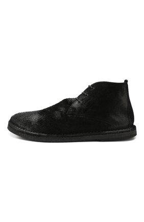 Мужские замшевые ботинки MARSELL черного цвета, арт. MM2795/SPALLA R0VESCI0 | Фото 3