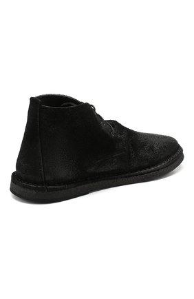 Мужские замшевые ботинки MARSELL черного цвета, арт. MM2795/SPALLA R0VESCI0 | Фото 4
