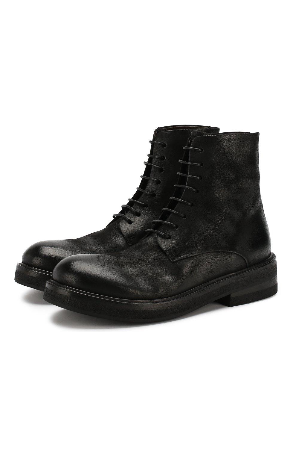 Мужские кожаные ботинки MARSELL черного цвета, арт. MM2961/NEVE | Фото 1