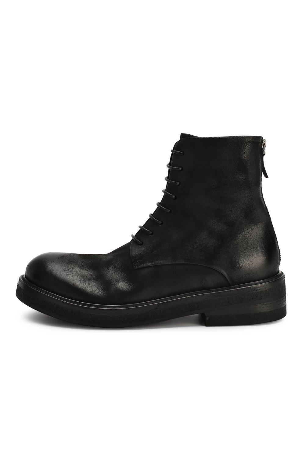 Мужские кожаные ботинки MARSELL черного цвета, арт. MM2961/NEVE | Фото 3
