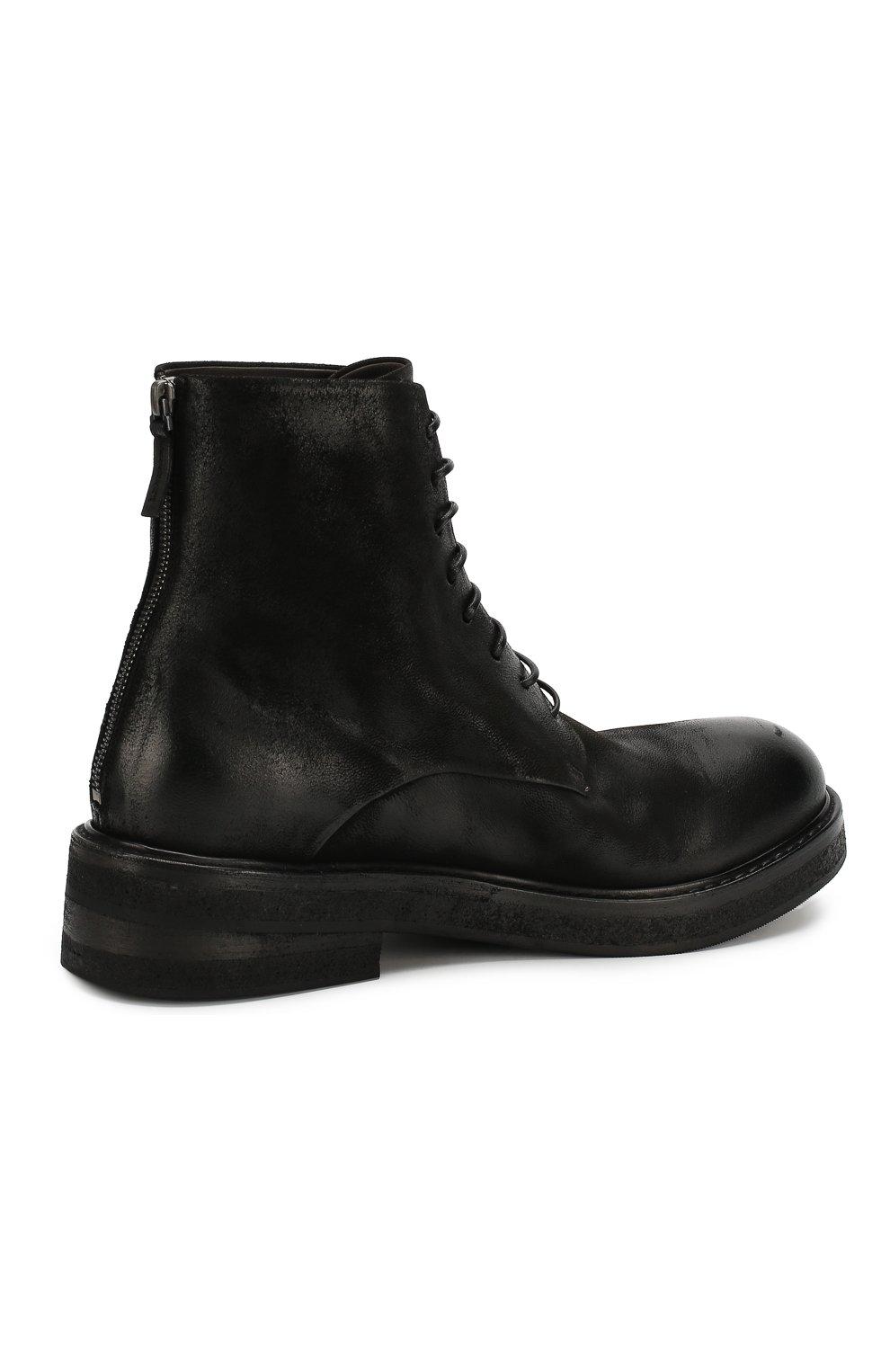 Мужские кожаные ботинки MARSELL черного цвета, арт. MM2961/NEVE | Фото 4