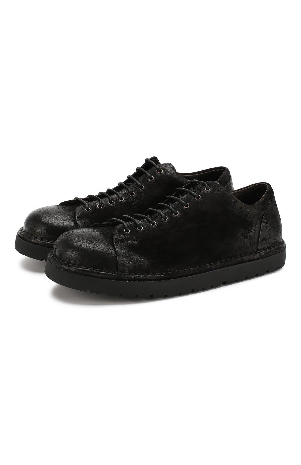 Мужские кожаные ботинки MARSELL черного цвета, арт. MMG350/DR0M R0VESCI0 | Фото 1