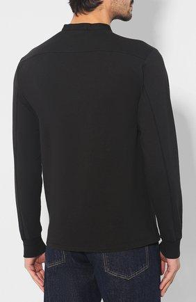 Мужская хлопковый лонгслив STONE ISLAND черного цвета, арт. 711520442 | Фото 4