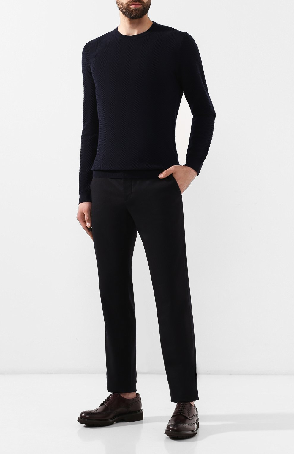 Мужские кожаные дерби DOUCAL'S бордового цвета, арт. DU10090TTAUF087TL04 | Фото 2