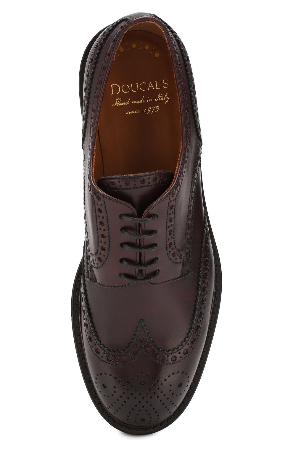 Мужские кожаные дерби DOUCAL'S бордового цвета, арт. DU10090TTAUF087TL04 | Фото 5