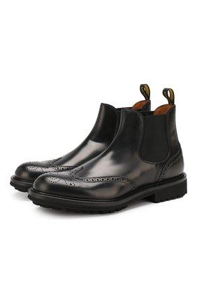 Мужские кожаные челси DOUCAL'S черного цвета, арт. DU12490TTAUF087NN00 | Фото 1