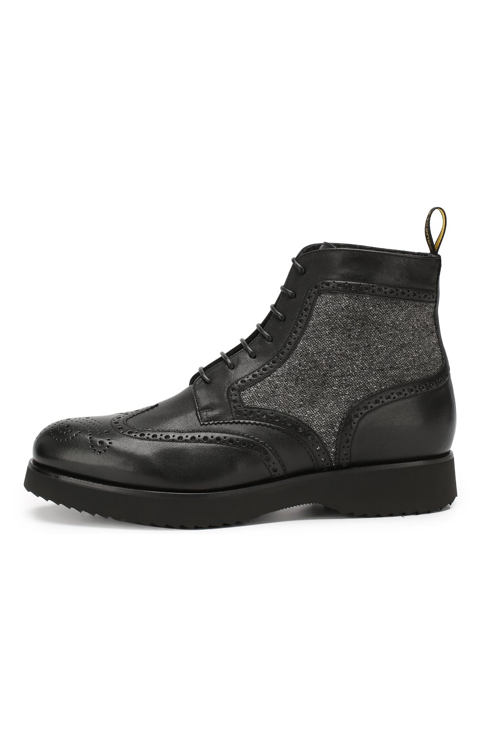 Мужские кожаные ботинки DOUCAL'S черного цвета, арт. DU2157DAK0PT331NN00 | Фото 3