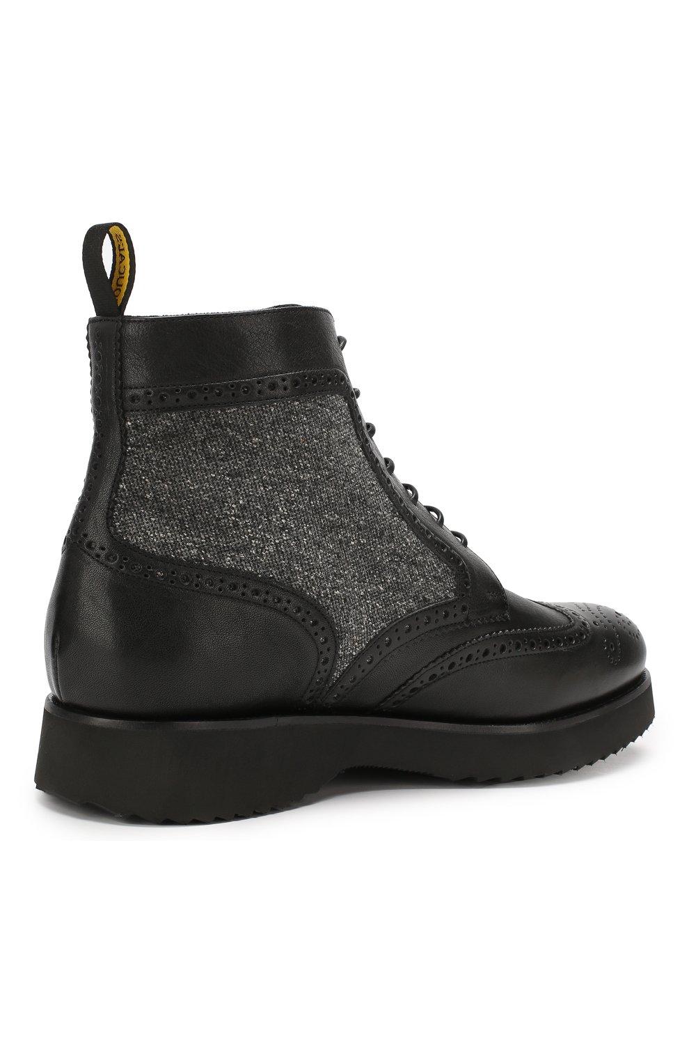 Мужские кожаные ботинки DOUCAL'S черного цвета, арт. DU2157DAK0PT331NN00 | Фото 4