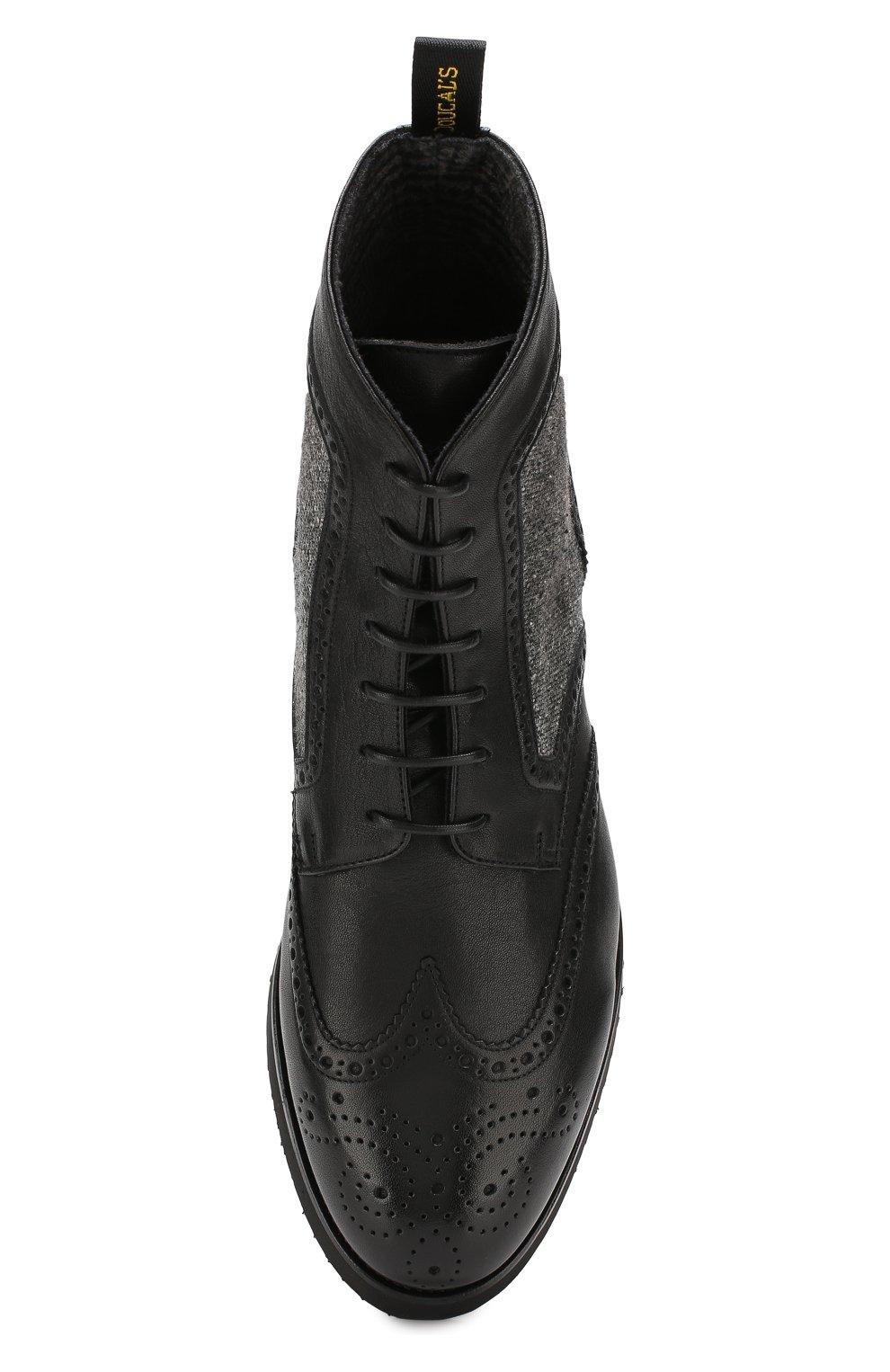 Мужские кожаные ботинки DOUCAL'S черного цвета, арт. DU2157DAK0PT331NN00 | Фото 5