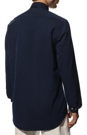 Мужская хлопковая рубашка PAUL&SHARK синего цвета, арт. C0P3002/C00 | Фото 4