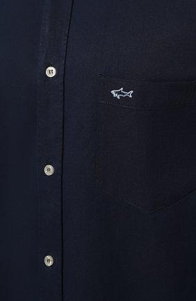 Мужская хлопковая рубашка PAUL&SHARK синего цвета, арт. C0P3002/C00 | Фото 5