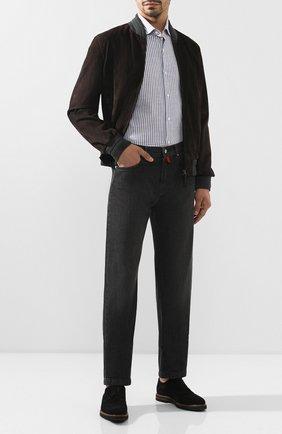 Мужские джинсы KITON темно-серого цвета, арт. UPNJS1/J03S55 | Фото 2