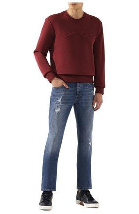 Мужской хлопковый свитшот ZEGNA COUTURE красного цвета, арт. CTCJ02/6TJ20 | Фото 2