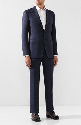 Мужской шерстяной костюм CANALI синего цвета, арт. 11220/10/BF00072 | Фото 1