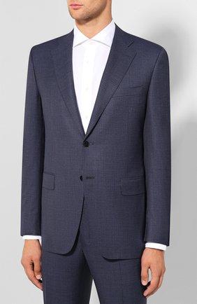 Мужской шерстяной костюм CANALI синего цвета, арт. 11220/10/BF00072 | Фото 2