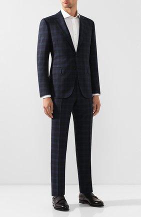 Мужской шерстяной костюм CANALI темно-синего цвета, арт. 11280/19/BR02180 | Фото 1