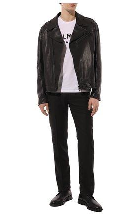 Мужские шерстяные брюки ZILLI черного цвета, арт. M0S-40-38N-B6406/0001   Фото 2