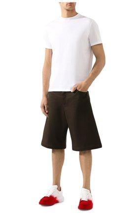 Мужская хлопковая футболка VALENTINO белого цвета, арт. SV3MG08Y3LE | Фото 2