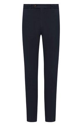 Мужской хлопковые брюки BRUNELLO CUCINELLI темно-синего цвета, арт. M079DB1150 | Фото 1