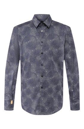Мужская хлопковая рубашка BILLIONAIRE синего цвета, арт. MRP1025 | Фото 1