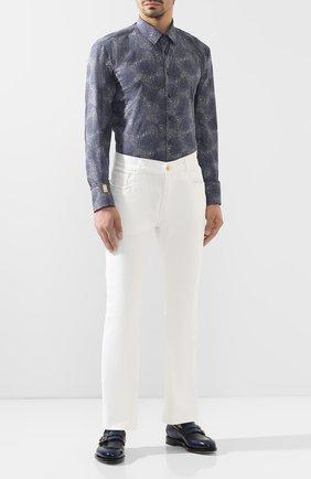 Мужская хлопковая рубашка BILLIONAIRE синего цвета, арт. MRP1025 | Фото 2